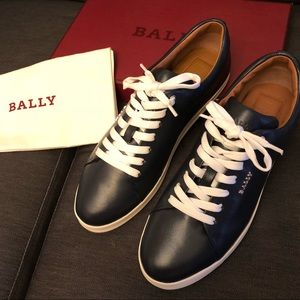💙BNIB •Bally• Dark Navy sneakers💙 AUTHENTIC💙